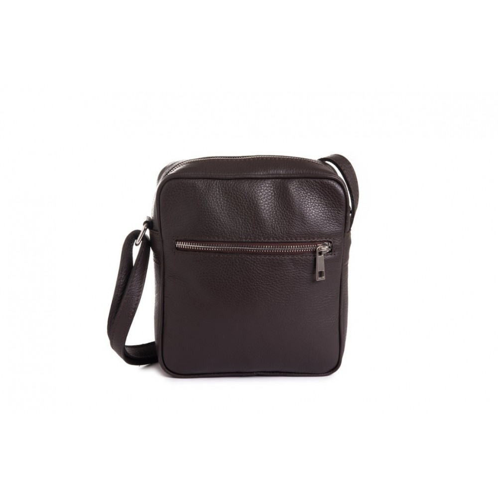 MEN'S BAG IN GENUINE BROWN...