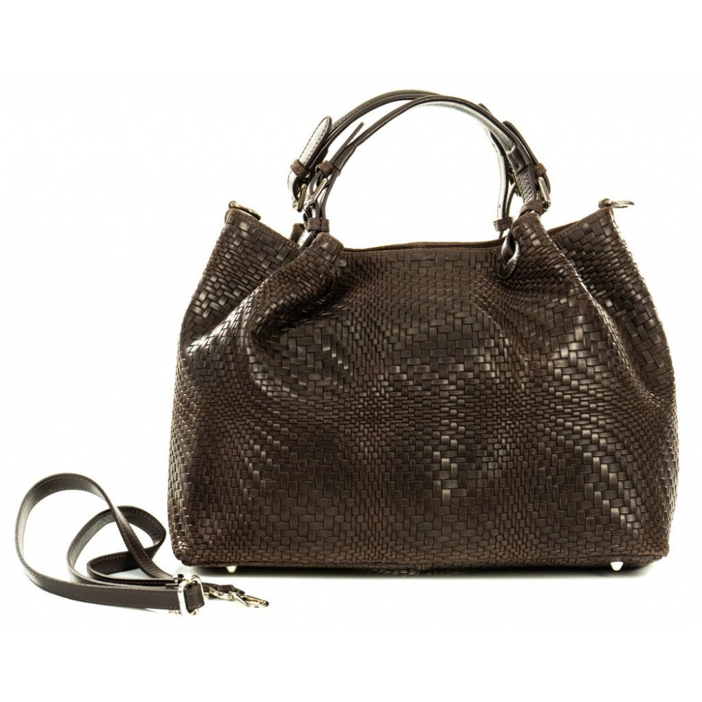 BAG IN REAL DARK LEATHER