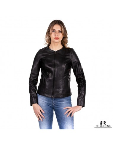buy online 09b0b 4b65a A198 N Giacca-giubbotto donna in vera pelle nero